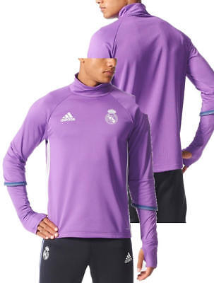 Real Madrid Adidas Training Top Sweatshirt Felpa Lila 2016 17