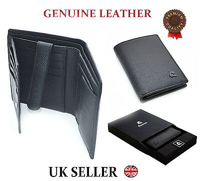 30d411881563 Mens Designer Quality Real Leather Wallet Credit Card Cash Coin Purse Gift  Box
