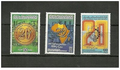 1984-Libya- The 20th Anniversary of African Development Bank – Complete set 3 v