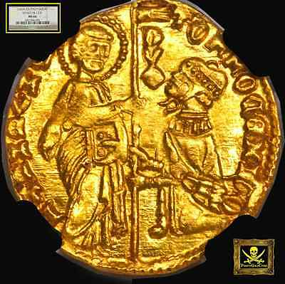 "ITALY, VENICE 1414-23 DUCAT NGC 66 GOLD COIN ""FINEST KNOWN"" we know of! JESUS"