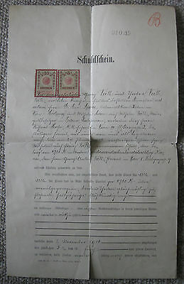 Austrian 1st ww document, signed and dated 1915. Rare Collectible