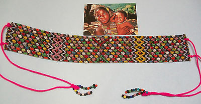 Traditional Zulu Beaded Head Band Multi-Colored,Vintage South African Craft