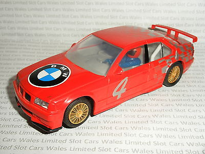 Scalextric - BMW 320 Red #4 - Exc. Cdn.