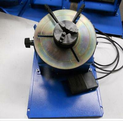 2~10RPM 10KG Light Duty Welding Positioner Turntable with 65mm 3 Jaw Chuck