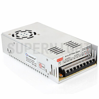 AC to DC12V 30A 360W Regulated Switching Driver Power Supply for LED Strip Light