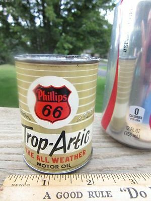 OLD VINTAGE 1950s PHILLIPS 66 Motor Oil Can Bank Gas Oil Advertising Petroliana