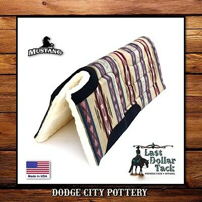 Smart Southwest~Dodge City Pottery~Thick & Durable~Built-Up ~ Western Saddle Pad