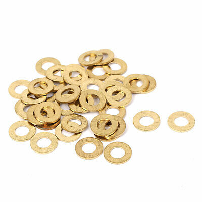 41pcs M5x10mmx0.8mm Brass Flat Washers Plain Spacer for Screw Bolts