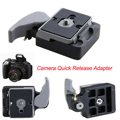 323 Camera Quick Release Clamp Tripod Adapter W/ Manfrotto 200PL-14 Compat Plate