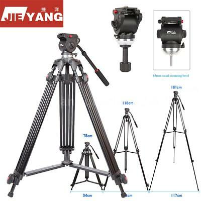 "Professional 64"" Heavy Duty DV Video Camera Tripod Stand with Fluid Pan Head Kit"