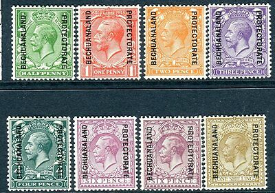 BECHUANALAND-1925-7  A lightly mounted mint set to 1/- Sg 91-98