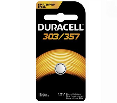 6 x Duracell SR44 303 357 76A EPX76 LR44 SILVER OXIDE 1.5V BUTTON CELL BATTERY