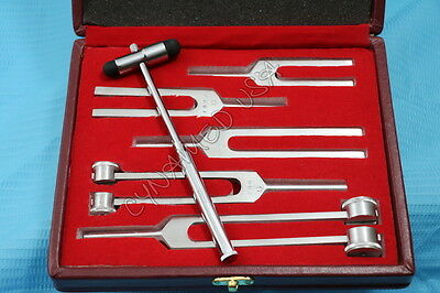 Tuning Fork Set of 6 - Medical Surgical Diagnostic instruments+ FREE BUCK HAMMER