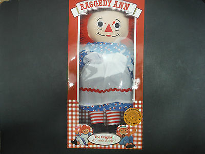 "RAGGEDY ANN, THE ORIGINAL DOLL, 100th ANNIVERSARY 14"" Inch, NEW!"