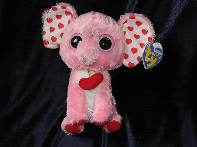 Ty Beanie Boo Tender the Elephant - 6 inch NWMT. Retired and hard to find Plush