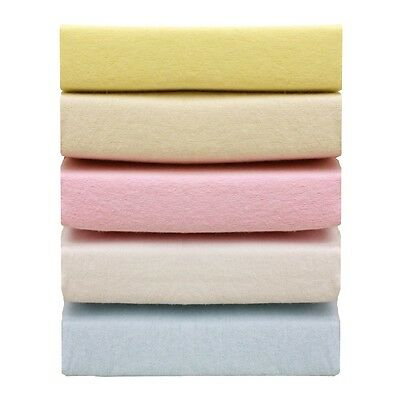 2 Pack Baby Cot/cot Bed Fitted Terry Cotton Sheets 70Cm X 140Cm - 4 Colours