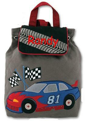 Personalized Stephen Joseph Backback Signature Race Car