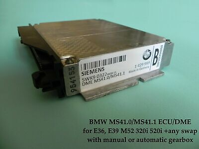 Chip Tuned ECU MS41.0 MS41.1 for BMW E36 E39 M52 320i 520i 7100rpm up to 175Hp