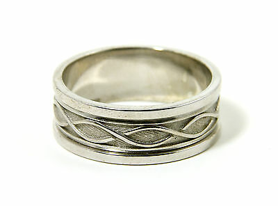 Celtic Knot Ring Mens Sterling Silver Made in Ireland