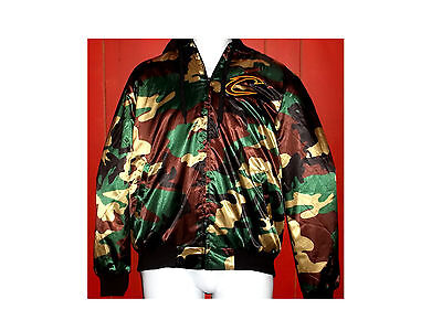 NWT NBA CLEVELAND CAVALIERS Quilt Lined Hooded Camo Coat Sz S ~~~FREE SHIP~~~