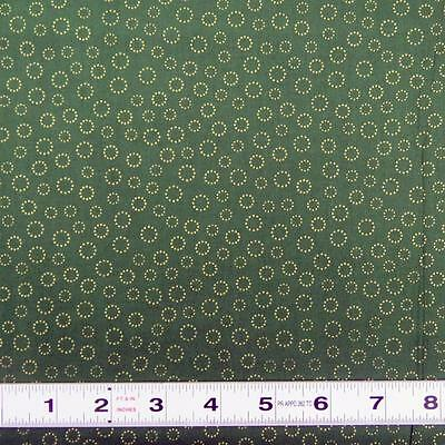 Lot A506 - METALLICS - LUXURY ESSENTIALS - GREEN - BARGAIN Fabric by the ½ metre