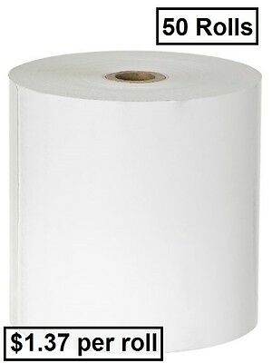 50 Rolls 80x80mm Thermal Paper, Cash Register, Receipt Rolls ($1.37 per roll)