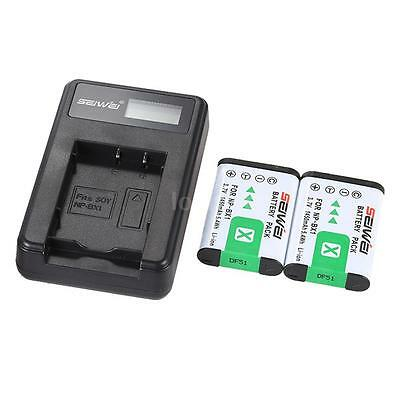 2x NP-BX1 1450mAh Battery Charger For SONY DSC Series Cybershot Digital Camera
