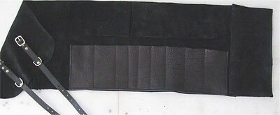 9 Pocket Leather Tool Roll with Pouch