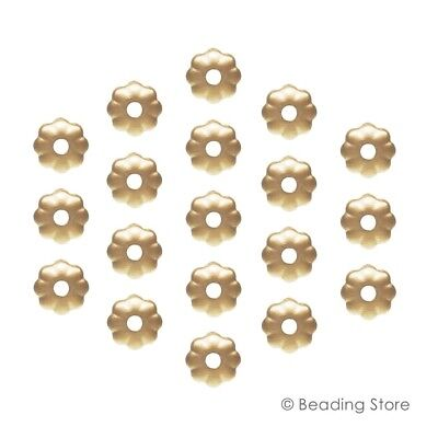 Various 14ct Yellow Gold Filled 3.2mm Flower Light Weight Bead Cap Caps Findings