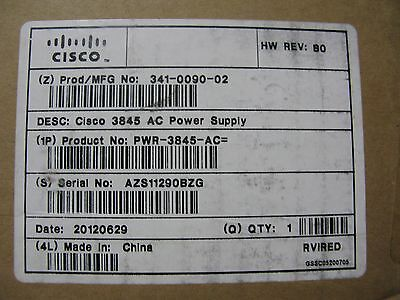 Cisco Power Supply 3845 Router  341-0090-02  PWR-3845-AC   Factory Sealed !