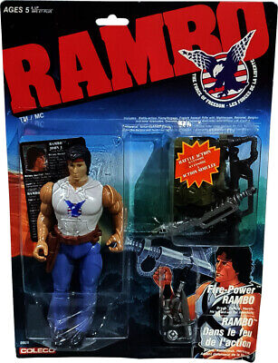 RAMBO - The Force of Freedom - Fire-Power Rambo Figure - New! MOSC!!