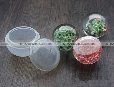DIY Resin Necklace Pendant Silicone Mould Round Shape Jewelry Mold Tools S8