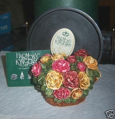 Harmony Kingdom Lord Byron's Garden ROSE BASKET NOS NIB Box SIGNED 1541/3600