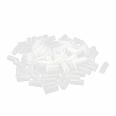 100 Pcs Nylon Cylinder LED Spacer Holder Support 3mm x 9mm Clear