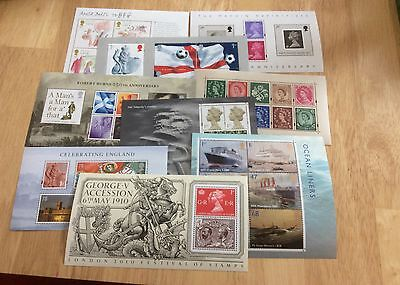 Gb Miniature Sheets 1999-2010 Mnh Individually Priced In Excellent Condition.