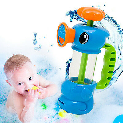 Child Baby Kids Bath Shower Swimming Pool Water Toys Duck Design Water Pump Toy