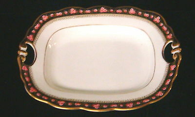 """Vintage French Porcelain Hand Painted Roses China- Sm 8 3/4"""" Service Plate-b"""