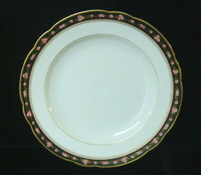 """Vintage French Porcelain Hand Painted Roses China - 10 3/4"""" Service Plate"""