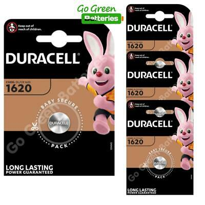 4 x Duracell CR1620 Coin Cell Battery 3V Lithium DL1620 1620 BR1620 ECR1620 NEW