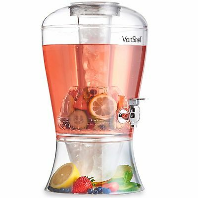VonShef 8L Large Drinks Dispenser Jug & Cocktail Fruit Punch Infuser with Tap
