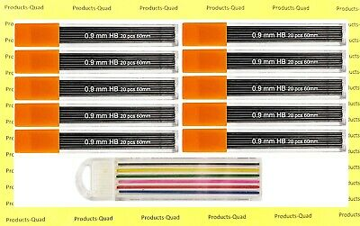 0.9 mm Mechanical pencil lead refills .9mm leads refills, 240 leads. FREE COLOR