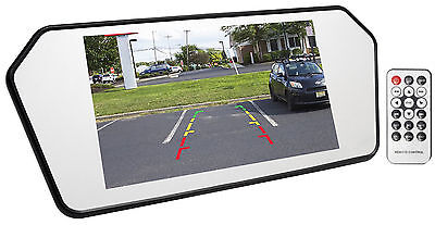 "Rockville R7CB 7"" Glass Car Rearview Mirror w/ 7"" Monitor+Bluetooth/USB/SD"