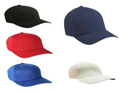 Plain 6 Panel Premium Ployester Unisex Baseball Cap Hat Summer Wholesale