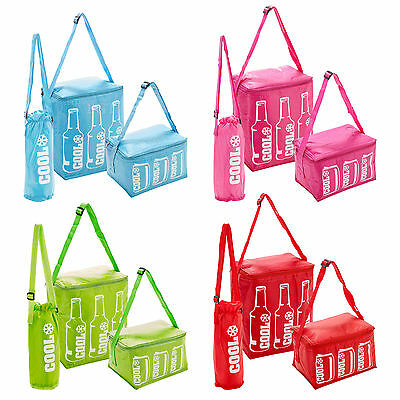 Insulated Thermal Cooler Cool Bag Lunch Food Cans Ice Camping Shoulder Strap New
