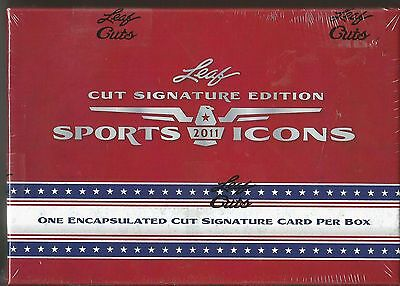 2011 Leaf Sports Icons Cut Signature Edition Factory Sealed Hobby Box