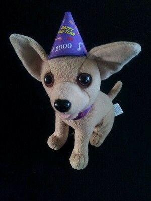 Taco Bell Collectible Talking Chihuahua New Years Eve 2000