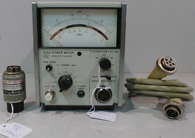 Agilent/HP 432A Power Meter w/478A Thermistor Mount & Cable--Tested & Working #3