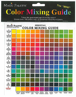 """Magic Palette Essential Color Mixing Guide The """"MINI"""" Version Style 5700"""