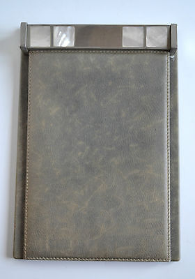 RARE Vintage GUCCI Mother Of Pearl Leather Note Pad Notepad Organize Desk Office