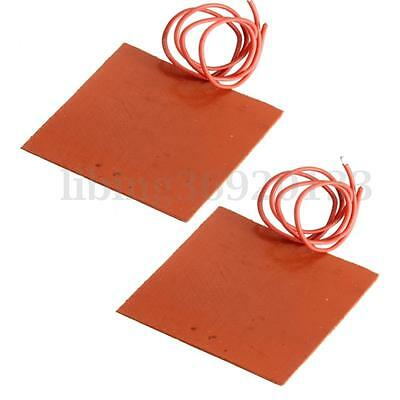 2x Practical Rubber Waterproof Silicone Flexible Heating Pad  DC 12V 10W 60*60mm
